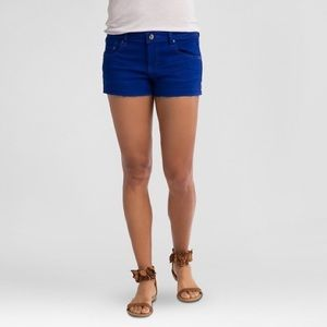 Refuge Cobalt Blue Cut Off Shorts